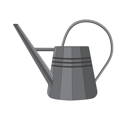 bailer: Vector illustration of a metal watering can