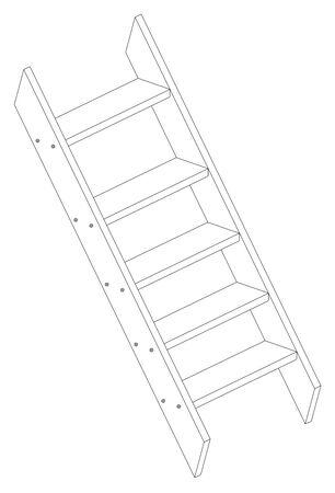 stepladder: Vector illustration of a stepladder on white background. Illustration
