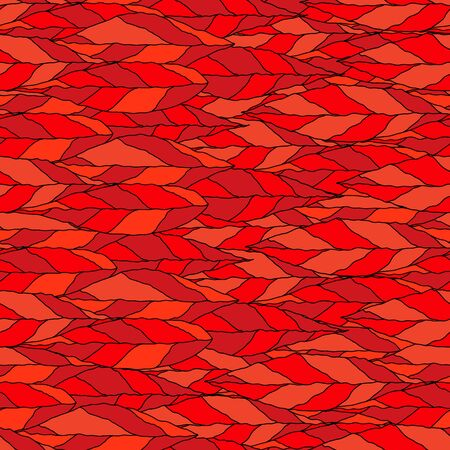 red leaves: illustration of a seamless pattern of red leaves