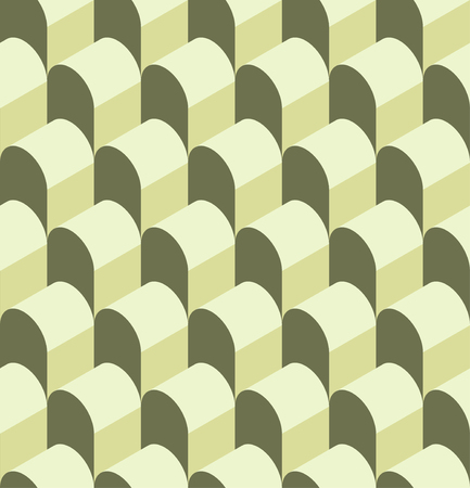 Vector illustration of a seamless repeating geometric pattern. Geometric pattern in the form of a hangar for fabrics