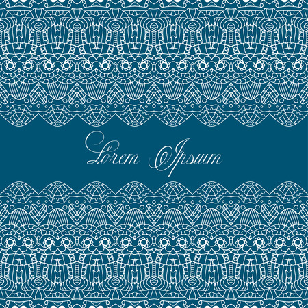crochet: Vector illustration of a seamless repeating crochet  pattern. Lace knitting seamless pattern on blue background.Knitting Texture. Knitted Background. Knit Vector.