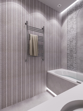 classical style: 3D illustration of a bathroom in a modern classical style.