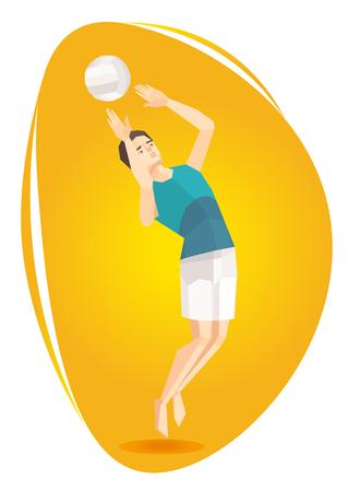 Vector illustration of a volleyball athlete. Illustration
