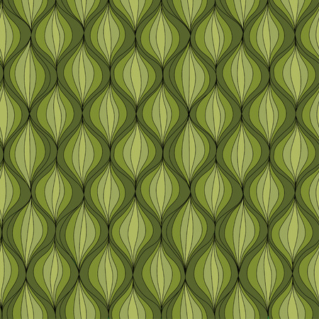 Vector illustration abstract seamless pattern. Repeating retro patern made in green tones