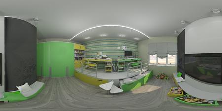 modern living room: 3d illustration interior design of the childrens