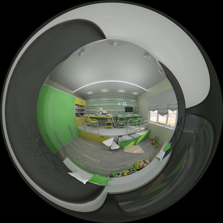 3d illustratie interieur van kinderkamer