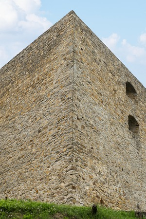 Authentic guard fortress of the Ukrainian Cossacks. The guard fort is made of stone. Stockfoto