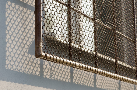 iron barred: Safety window with grate, perfect crime protection.