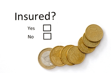 buisiness: Insurance or risk buisiness concept and chash. Stock Photo