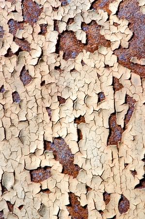 choppy: Detail texture of rusty and choppy metal sheet.