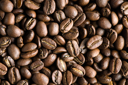 fullbody: Texture of tasty, rich and fullbody roasted coffee beans.