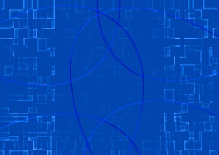 abstract background of mosaic blue tiles photo