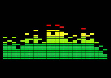 Multi-colored graphic equalizer photo