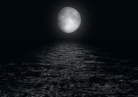 Pleine lune refl�t�e dans l'eau