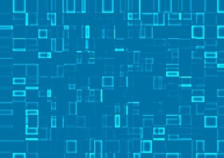 3D squar blue Stock Photo