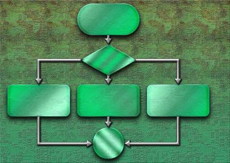Empty flow chart diagram Stock Photo - 11071865