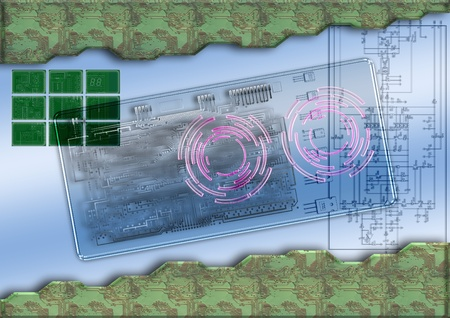 cold fusion: Circuit Board Background Stock Photo