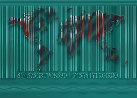 the world with a bar code photo