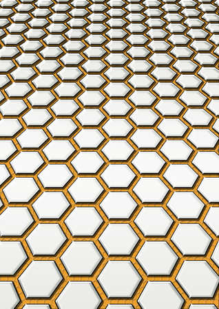background from steel honeycomb photo