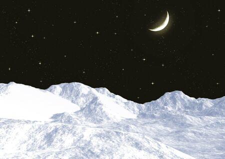 Snow mountain tops Stock Photo