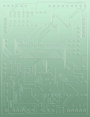 microcircuit: close-up abstract microcircuit Stock Photo