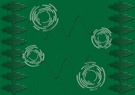 Digital electronics and binary numbers photo
