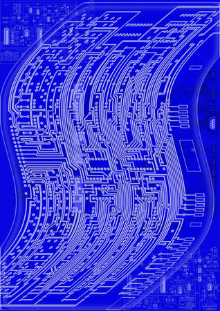 blueprint circuit board photo