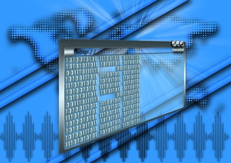 cosine: Digital electronics and binary numbers Stock Photo