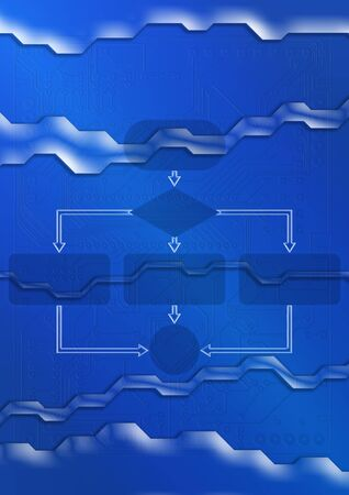 Empty flow chart diagram photo