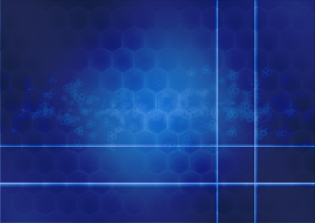 Abstract background in the form of honeycombs photo
