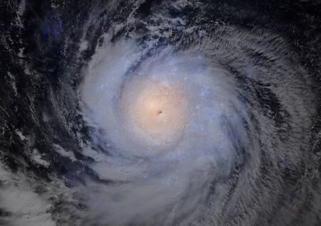 Far away spiral galaxy photo