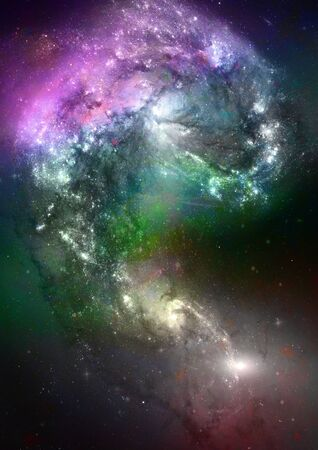 Far space being shone nebula as abstract background Stock Photo - 14099383
