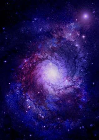 far away: Far away spiral galaxy
