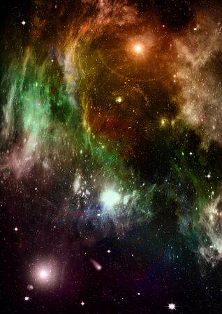 Space stars and nebula Stock Photo - 14099376