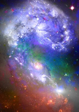 Far space being shone nebula as abstract background Stock Photo - 14257491