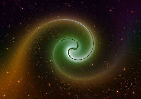 far away: Far away spiral galaxy dark Stock Photo