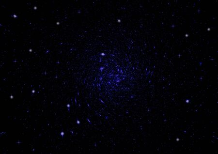 Space stars and nebula as dark abstract background photo