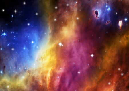 Space stars and nebula Stock Photo - 14465549