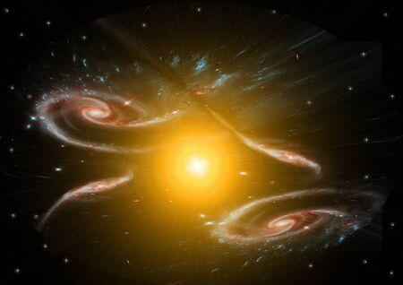 Being shone spiral gas nebula Stock Photo - 14465718