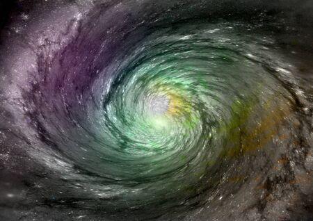 Being shone spiral gas nebula Stock Photo - 14465941