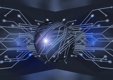 전자 방식의 설치를위한 전기 보드