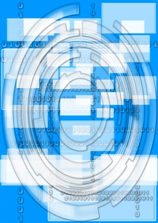 Abstract technological background with technological lines and circles photo