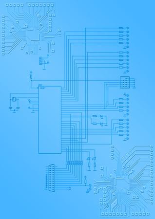 Le syst�me �lectronique avec microprocesseur et les conducteurs d'impression