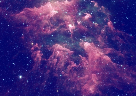 Far space being shone nebula as abstract background photo