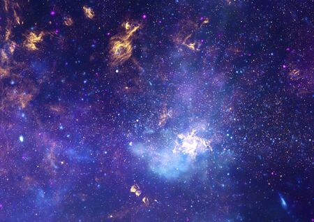 Star field in space, a nebulae and a gas congestion Stock Photo - 14970102