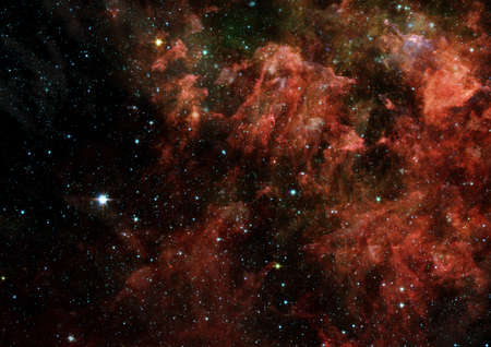 Stars of a planet and galaxy in a free space photo