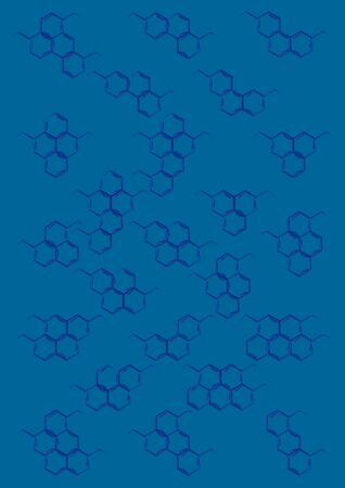 Background with structural chemical formulas Stock Photo - 15047023