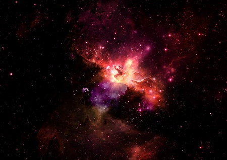 Star field in space and a nebulae Stock Photo - 16534638