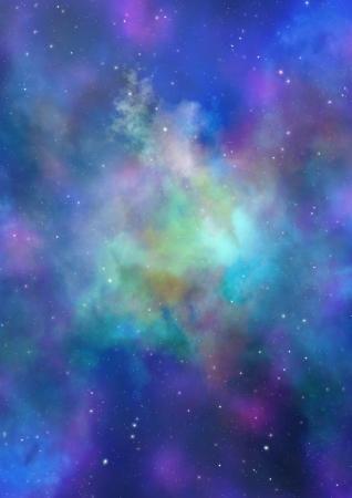 Champ d'�toiles dans l'espace, n�buleuses et une congestion de gaz