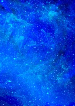 우주 공간의 무한 스타 필드의 작은 부분